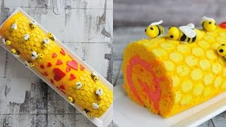 VALENTINE'S DAY BEE MINE CAKE ROLL, HANIELA'S
