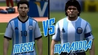 getlinkyoutube.com-FIFA 14 ► Lionel Messi vs Diego Maradona ᴴᴰ