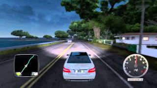 getlinkyoutube.com-Test Drive Unlimited 2 - Mercedes E63 AMG - Friends Cruise - Logitech G27