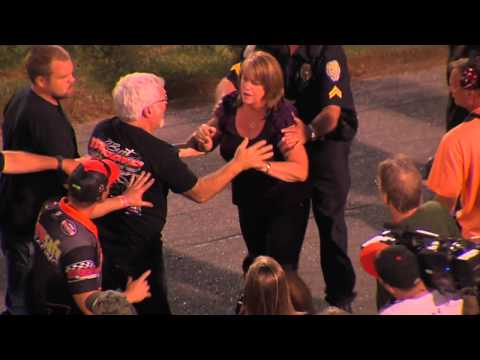 Burt Myers Punched in Stomach in Victory Lane