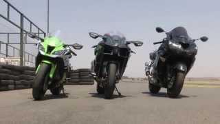 getlinkyoutube.com-Kawasaki H2 vs. ZX10R vs. ZX14