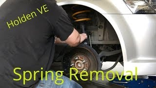 getlinkyoutube.com-Holden VE Commodore - Spring Removal and Strut Top Replacement