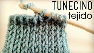 """getlinkyoutube.com-Punto """"TEJIDO"""" Tunecino (Crochet Tunecino)"""