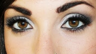 getlinkyoutube.com-Trucco argento e nero make up | Beautydea