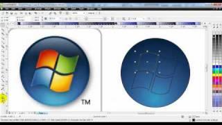 getlinkyoutube.com-CorelDraw X5 Windows 7 Logo Redraw Tutorial