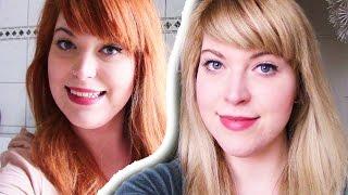getlinkyoutube.com-Haare blondieren | Von Rot zu Blond ohne Gelbstich Orangestich