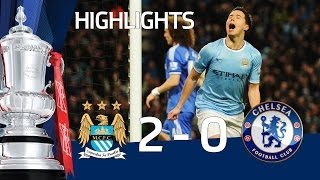 getlinkyoutube.com-Manchester City vs Chelsea 2-0, Jovetic and Nasri - FA Cup 5th Round goals & highlights