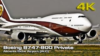 Impressive Boeing 747-8 VIP Private TakeOff [4K]