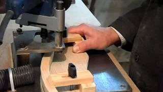 getlinkyoutube.com-Декоративная рейка ручным фрезером. Decor manual milling cutter.