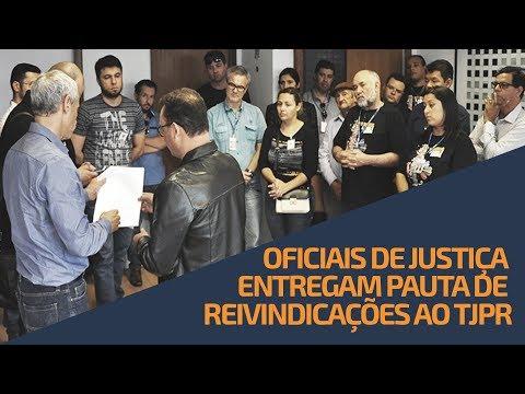 Oficiais de Justiça entregam pauta de reivindicações ao TJPR