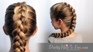 getlinkyoutube.com-How to: Easy Pulled Dutch Braid Tutorial| Pretty Hair is Fun