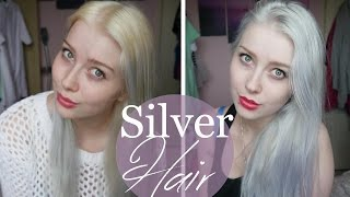 getlinkyoutube.com-Silver/ White Blonde Hair Tutorial!