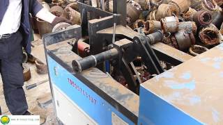 getlinkyoutube.com-Scrapping Industrial Electric Motor  machine---copper recycling