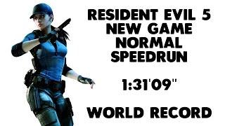 """getlinkyoutube.com-Resident Evil 5 - New Game Normal Speedrun - 1:31'09"""" [World Record] (PS4,XB1,PC)"""