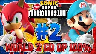 getlinkyoutube.com-Sonic & Mario in New Super Mario Bros Wii - Co Op 100% - Part 2