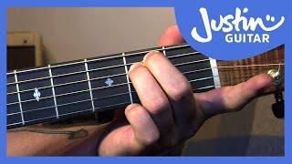 getlinkyoutube.com-Fingerstyle Minor Chord Scale Relations - Folk Guitar Lesson - JustinGuitar [FO-106]
