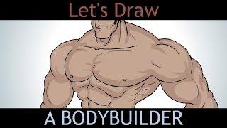 getlinkyoutube.com-Let's Draw a Bodybuilder