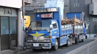 getlinkyoutube.com-*デコトラ マニ割り* Art Truck club 浪花会 細田商事 家屋解体現場③