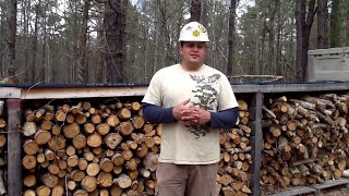 getlinkyoutube.com-Wranglerstar's a better way to cut firewood. NJ style!