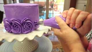 getlinkyoutube.com-Rose Swirl Cake By Lori's Bakery