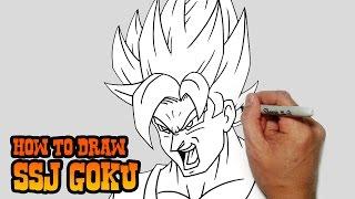 getlinkyoutube.com-How to Draw SSJ Goku- Dragon Ball Z- Video Lesson