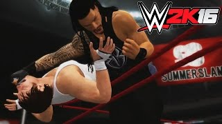 getlinkyoutube.com-WWE 2K16 - X360 PS3 Gameplay (XBOX 360 720P) Roman Reigns vs Dean Ambrose