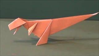 "getlinkyoutube.com-恐竜「ティラノサウルス」折り紙Dinosaur ""tyrannosaurus"" origami"