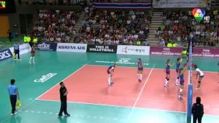 getlinkyoutube.com-Volleyball WGP 2014 THAI VS SERBEA HD ไทย vs เซอร์เบีย