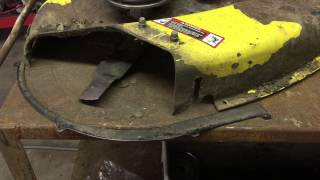 "getlinkyoutube.com-Repairing some common problems on a 42"" cut john Deere deck. Welding / metal work"