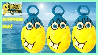 getlinkyoutube.com-Giant Spongebob Play Doh Surprise Egg Sponge Out of Water Invincibubble Blind Bags Mega Blocks