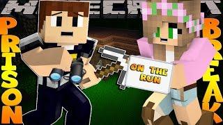 getlinkyoutube.com-Minecraft PRISON BREAK - SHARKY BREAKS OUT OF PRISON w/Little Kelly!!