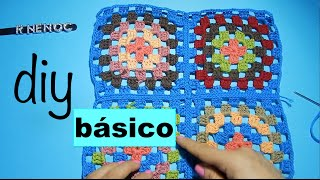 getlinkyoutube.com-Unir Cuadros o Tejidos Ganchillo, Crochet Joining sew Diy