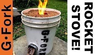 getlinkyoutube.com-DIY Rocket Stove In A 5 Gal Bucket - GardenFork