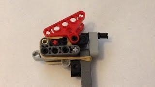 getlinkyoutube.com-How to make a small powerful Lego gun!