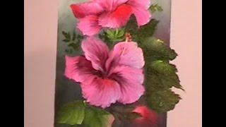 "getlinkyoutube.com-The Beauty of Oil Painting, Behind the Scenes, Episode 2 "" Hibiscus """