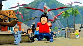 getlinkyoutube.com-LEGO Jurassic World Dimorphodons Attack Tourist Center