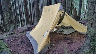 getlinkyoutube.com-Hammock Hot Tent for Wood Stove Winter Snow Camping Shakedown