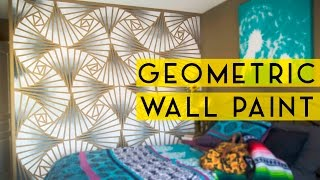 getlinkyoutube.com-DIY Geometric Wall Paint