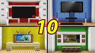 getlinkyoutube.com-10 Tv Designs to Improve Your House in Minecraft / How to Build / Tutorial / Modern /