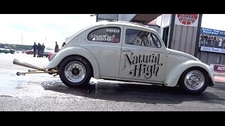 2015 Cal Look Drag Day - 2387cc VW Beetle - Natural High - 11.4 @ 115mph.