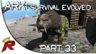 "getlinkyoutube.com-Ark: Survival Evolved Gameplay - Part 33: ""Sabertooth Tamed!"" (Early Access)"