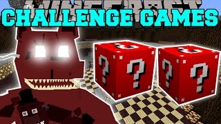 getlinkyoutube.com-Minecraft: NIGHTMARE FREDDY CHALLENGE GAMES - Lucky Block Mod - Modded Mini-Game
