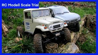 getlinkyoutube.com-Axial SCX10 Toyota Landcruiser BJ45 und Honcho beim Scale Trial
