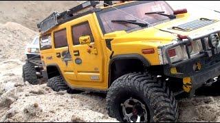 getlinkyoutube.com-SCALE TRUCKS Extreme OFF Road - Hummer, Land Rover DEFENDER, Axial: Dingo, Wraith, Honcho