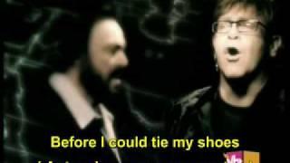getlinkyoutube.com-Live Like Horses-Elton John & Luciano Pavarotti ( English legend and Portuguese )