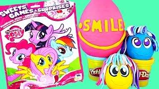 getlinkyoutube.com-GIANT Blind Bag My Little Pony Games + Toys Play Doh Surprise Eggs Zelfs Huevos Juguete Sorpresa