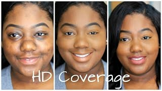 getlinkyoutube.com-101 Full Coverage HD Foundation Routine | How to Cover Dark Marks, Acne Scars, Dark Circles