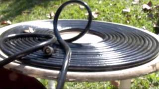 getlinkyoutube.com-SOLAR HOT WATER with black garden hose Pondmaster 1200 gph SWIMMING POOL SOLAR