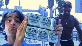 getlinkyoutube.com-Klondike Bar Challenge in Real Life !!! (What Would You Do for a Klondike Bar?)