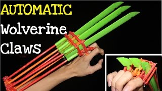 How to make Automatic Paper Wolverine Claws | X-men Weapon
